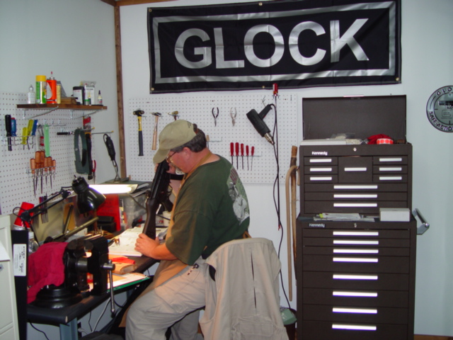 ZIG Hensley at his work bench in a Tactical Shooting Academy (TSA) Gunsmithing Class…