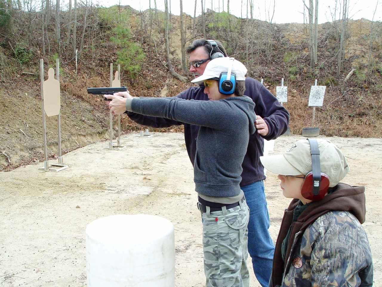 D.R. Coaching a Mom & 8 Year Old Son in Firearms Safety & Weapons Handling Class…