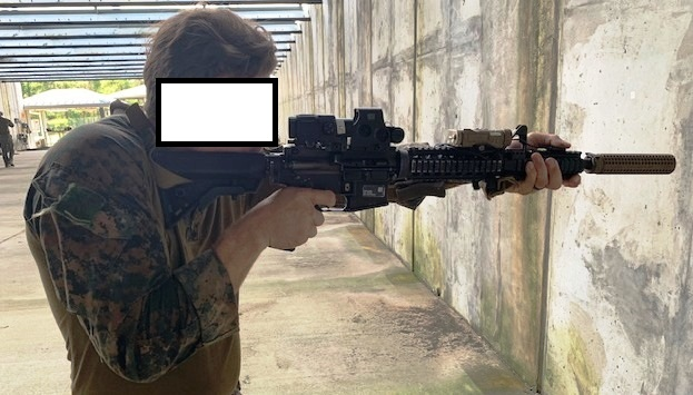 """Right Side View FIST-FIRE Carbine """"Full Extension"""" Presentation"""