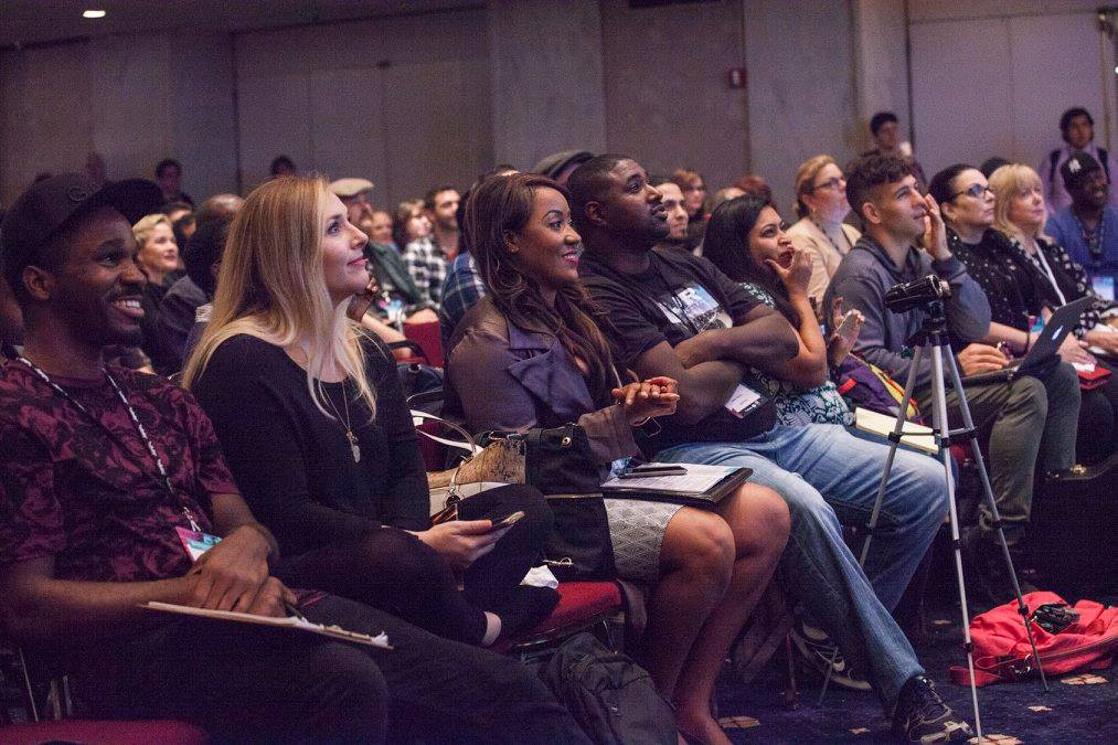 Engaged audience at CD Baby's DIY Musician Conference