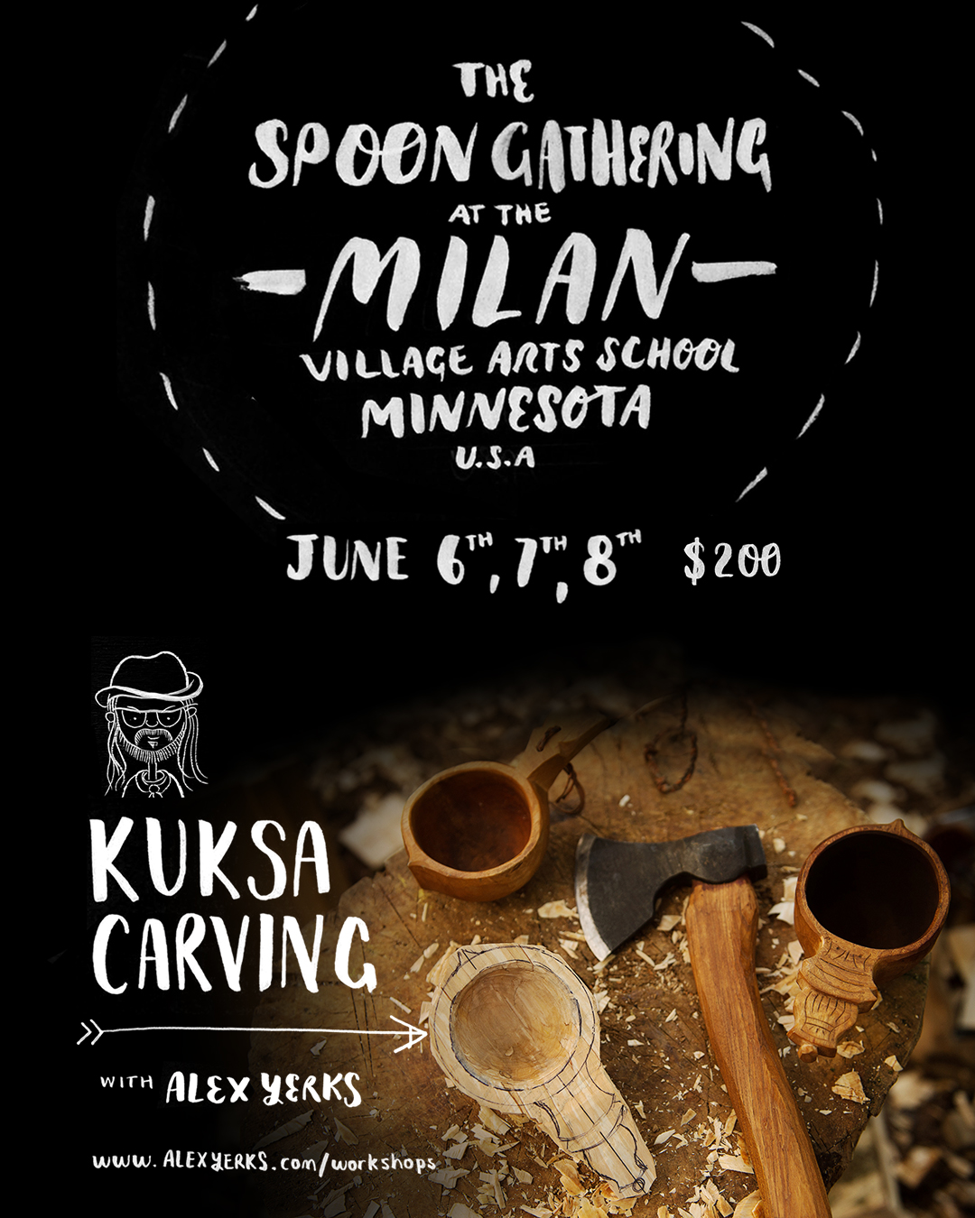 Kuksa Carving - 2.5 day class /Tues 6th, Wed 7th, Thurs 8th June $200