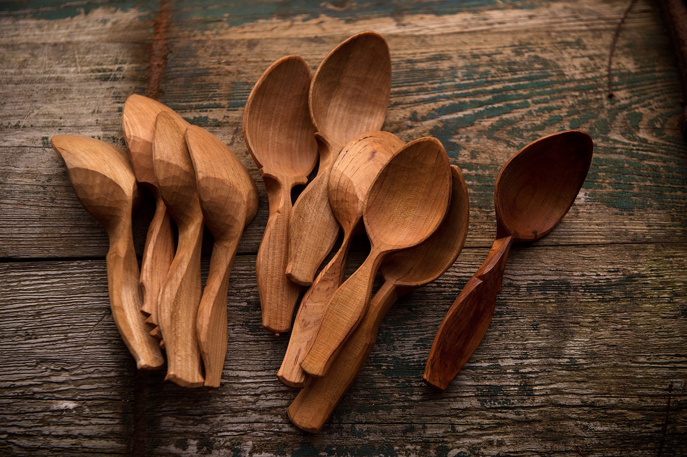 Eating Spoons - Take home a hand carved eating spoon from my latest batch of black cherry
