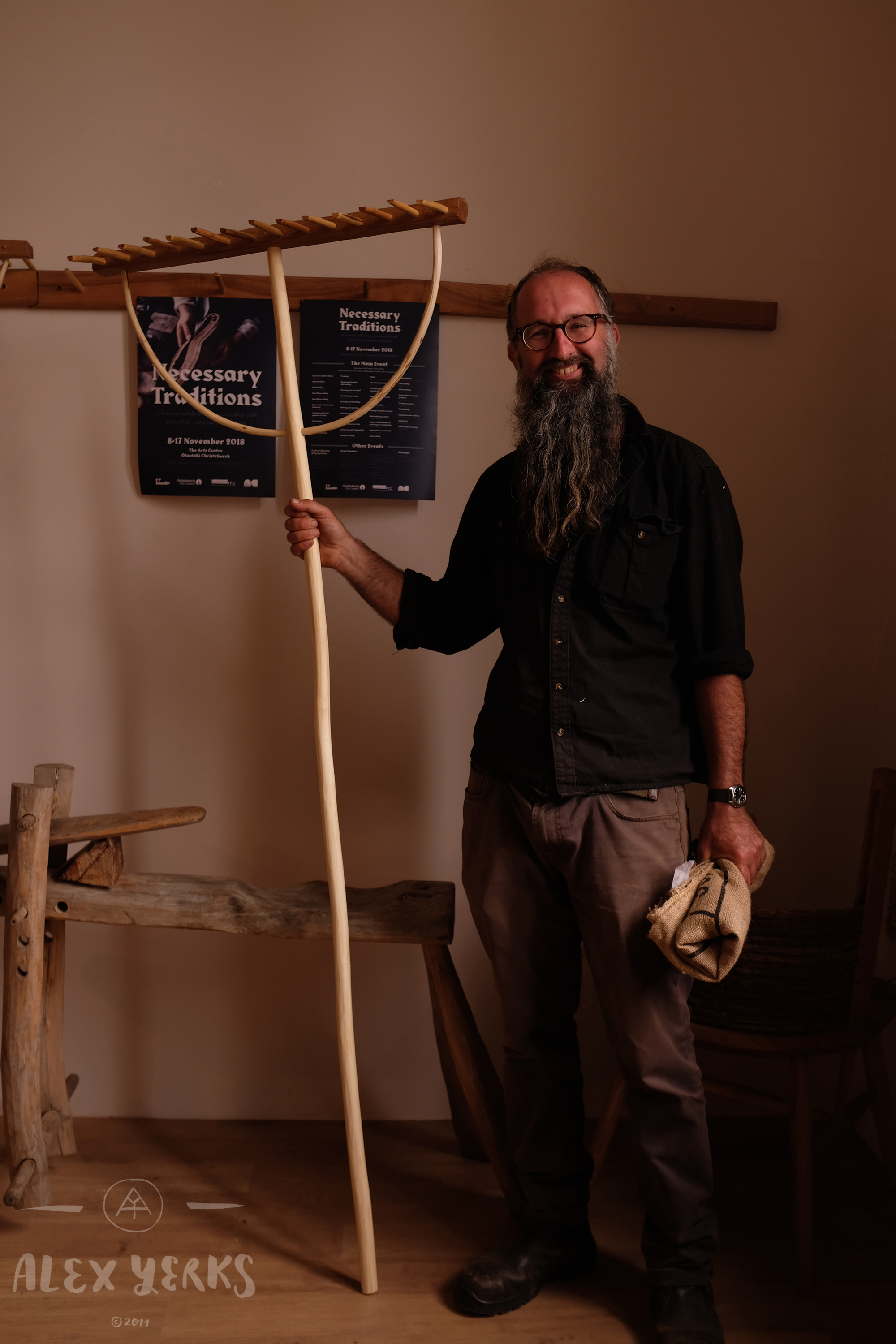 Gregg Quinn - He builds these gorgeous rakes which I plan to make next time I'm with him.