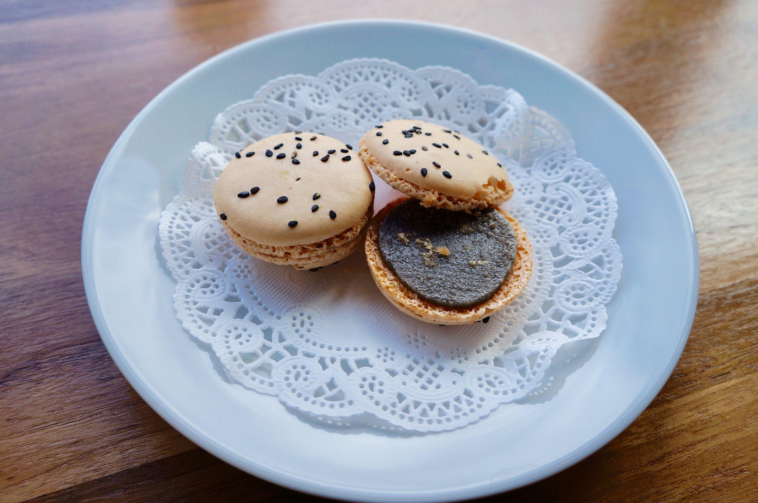 Black Sesame Macaroon