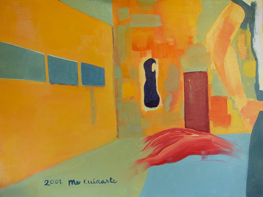 me cuidaste , oil on canvas