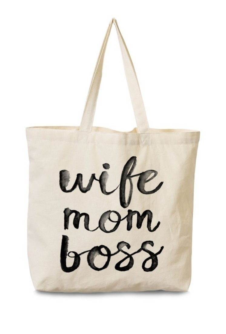 "This  tote . Let the world know who's boss, and mom, and wife. It is appropriately called the ""Say My Name Tote"""