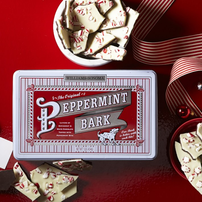 Some   Williams-Sonoma Peppermint Bark  . Because we all know this is the best stuff in the world.