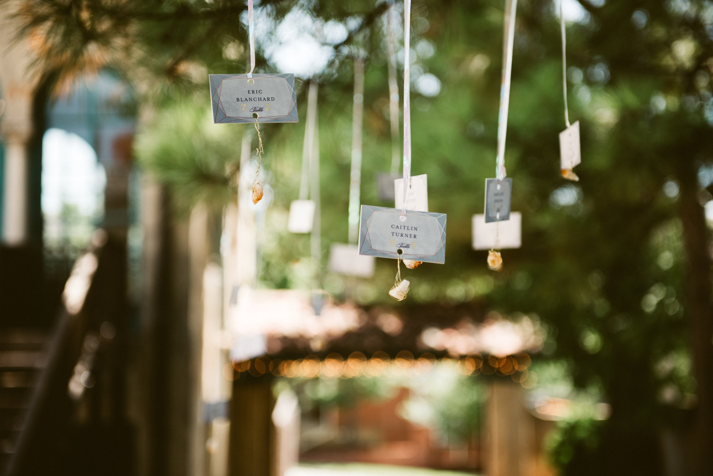 The place cards hanging from the trees were one of my favorite details. I love when brides get creative with the little details!