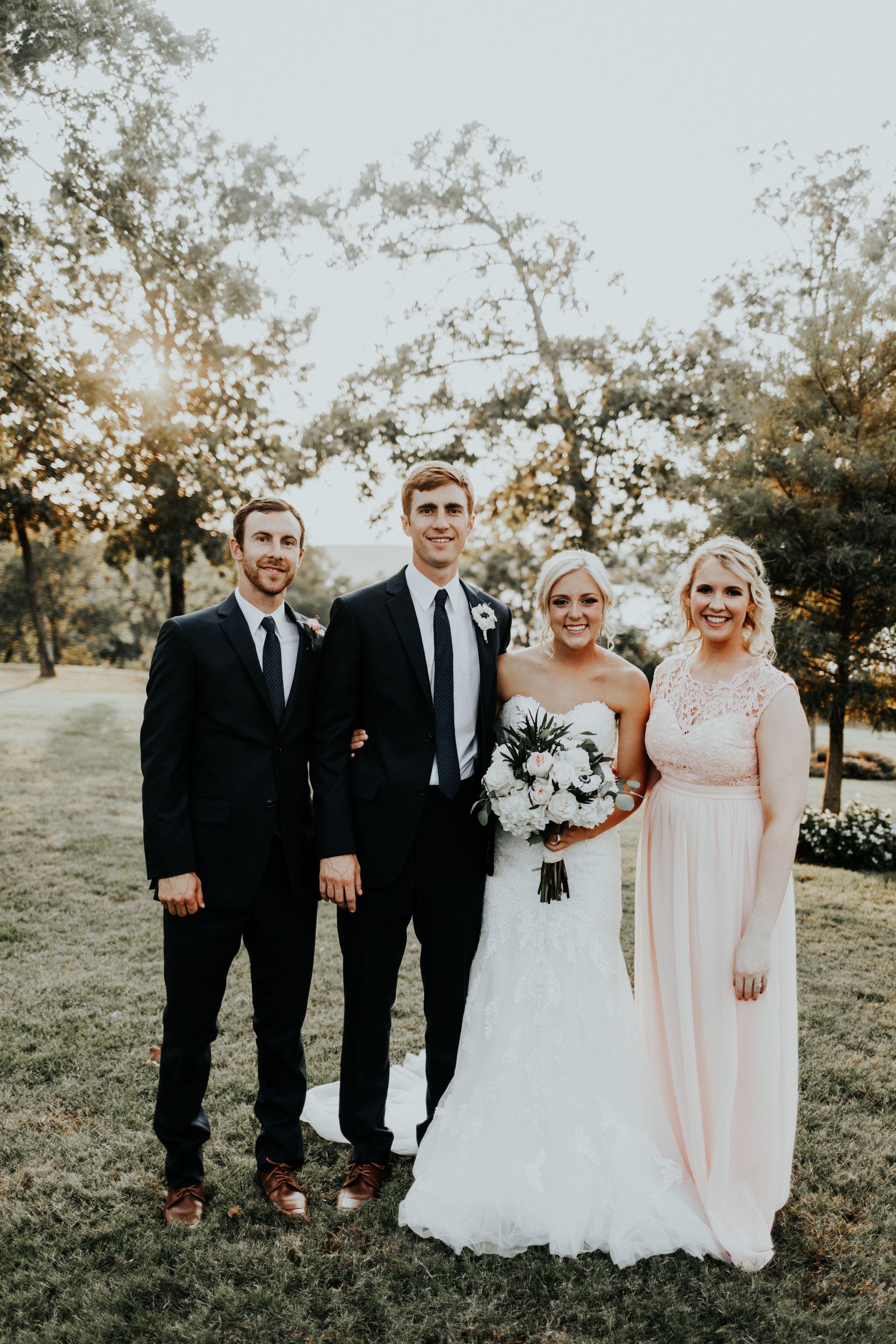 Both of my Miller couples! I coordinated Stephanie and Austin's wedding almost 2 years ago. At the time, Katie and Payton were just dating. When they got engaged, Katie called me to coordinate her wedding! I love seeing couples after their wedding and staying in touch!
