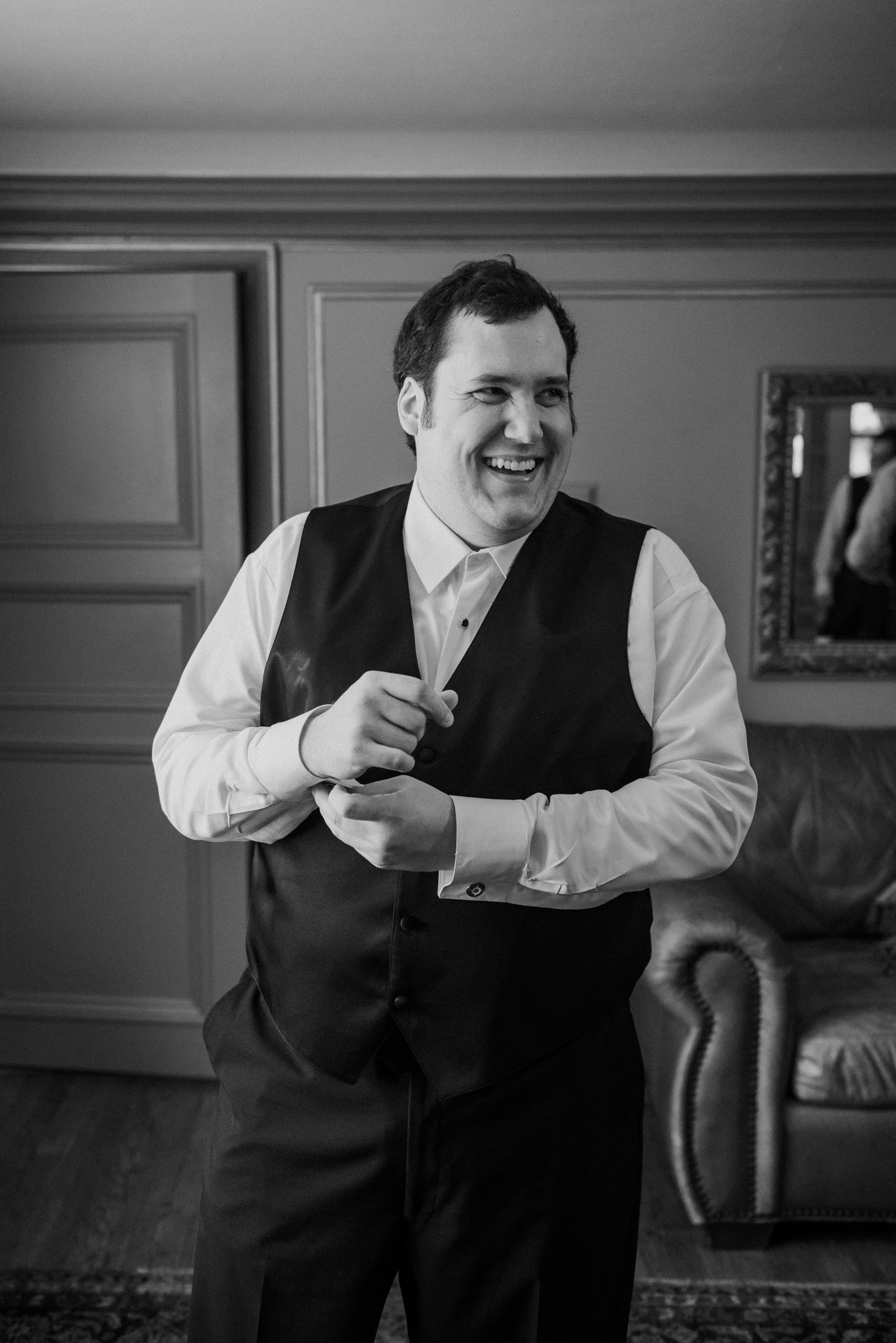 I've never had a groom as happy and giddy on wedding day as Patrick! I only met him a few times throughout planning but one the day of the wedding, his excitement was radiant!