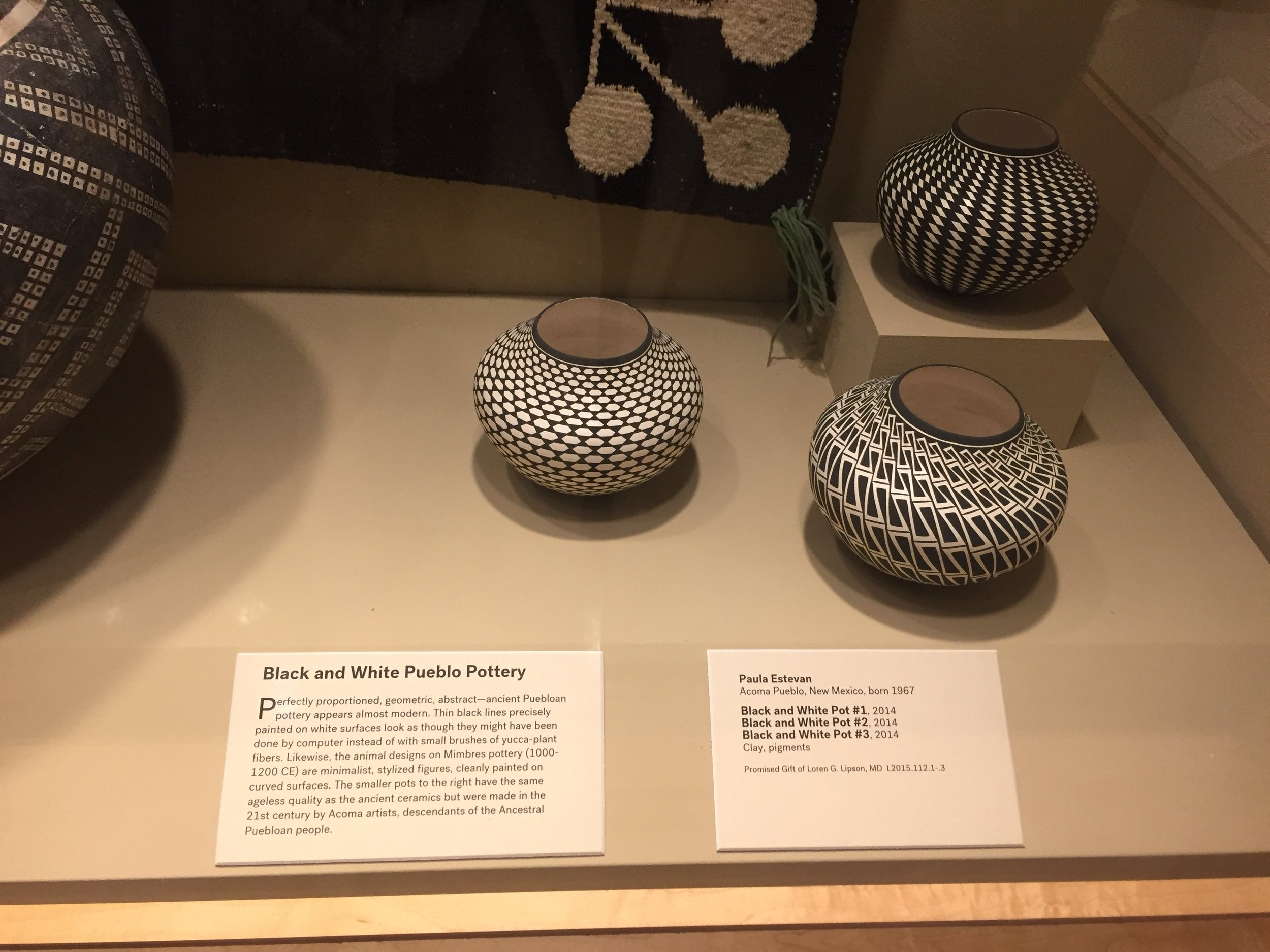 Three black and white pots by artist Paula Estevan were the inspiration for my floral arrangement
