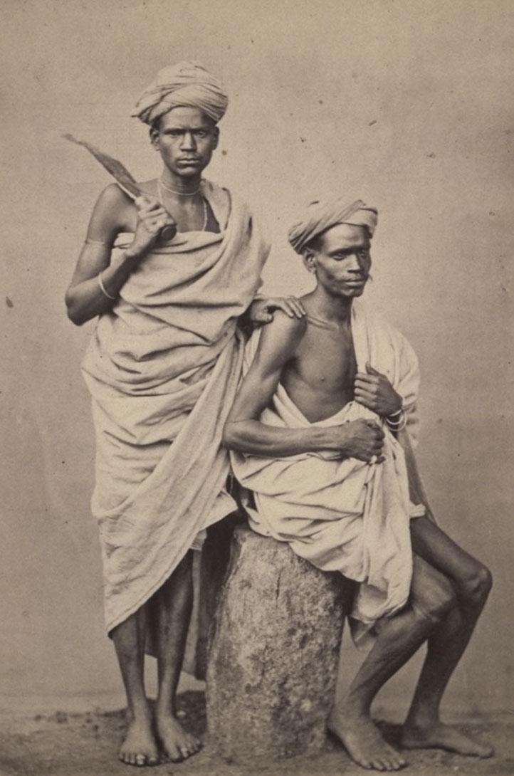 Irula men, Neelgerry Hills, 1868