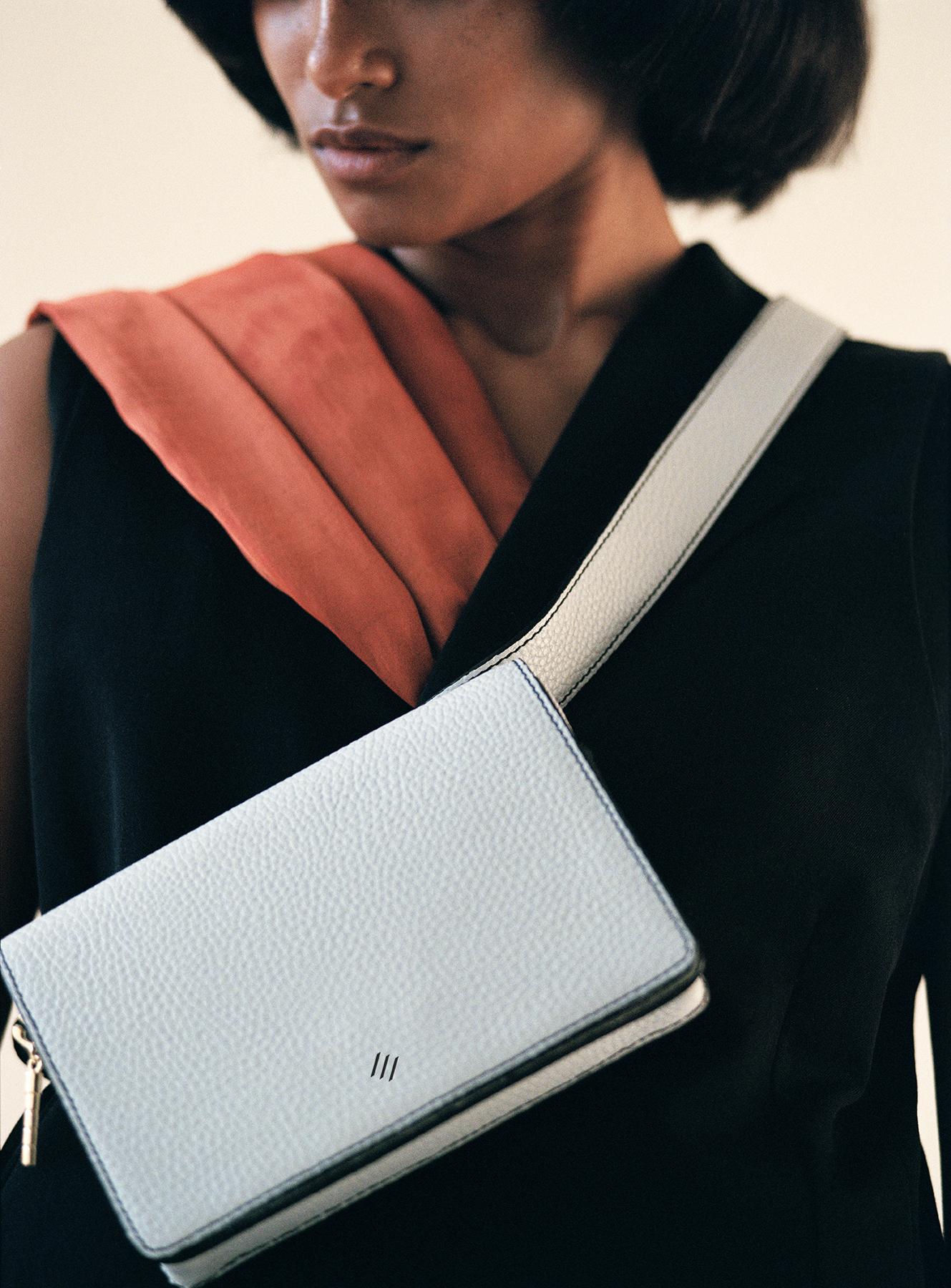 The  Cedar Mini belt bag in Silver Krait