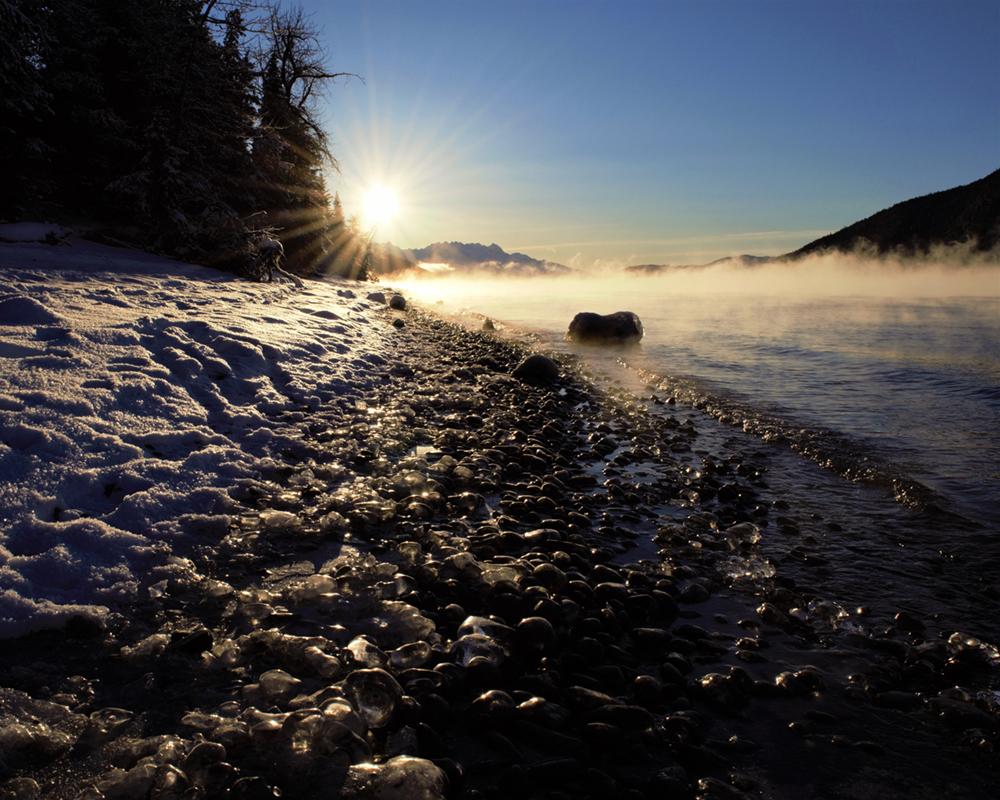 Morning at Kenai Lake