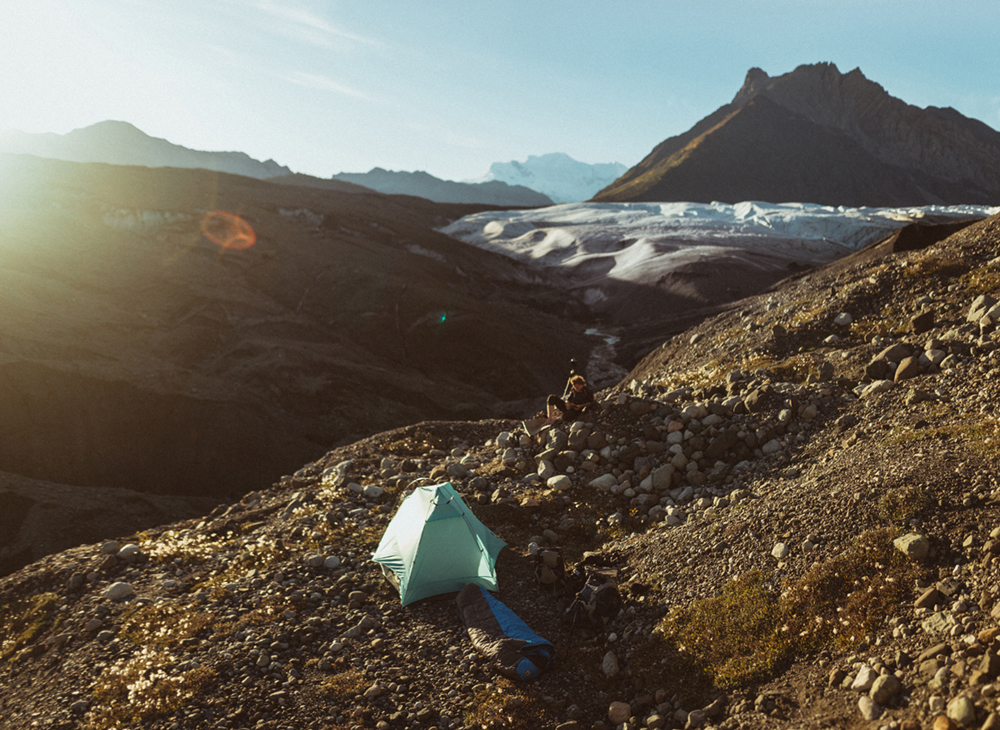 Sunset Along Root Glacier