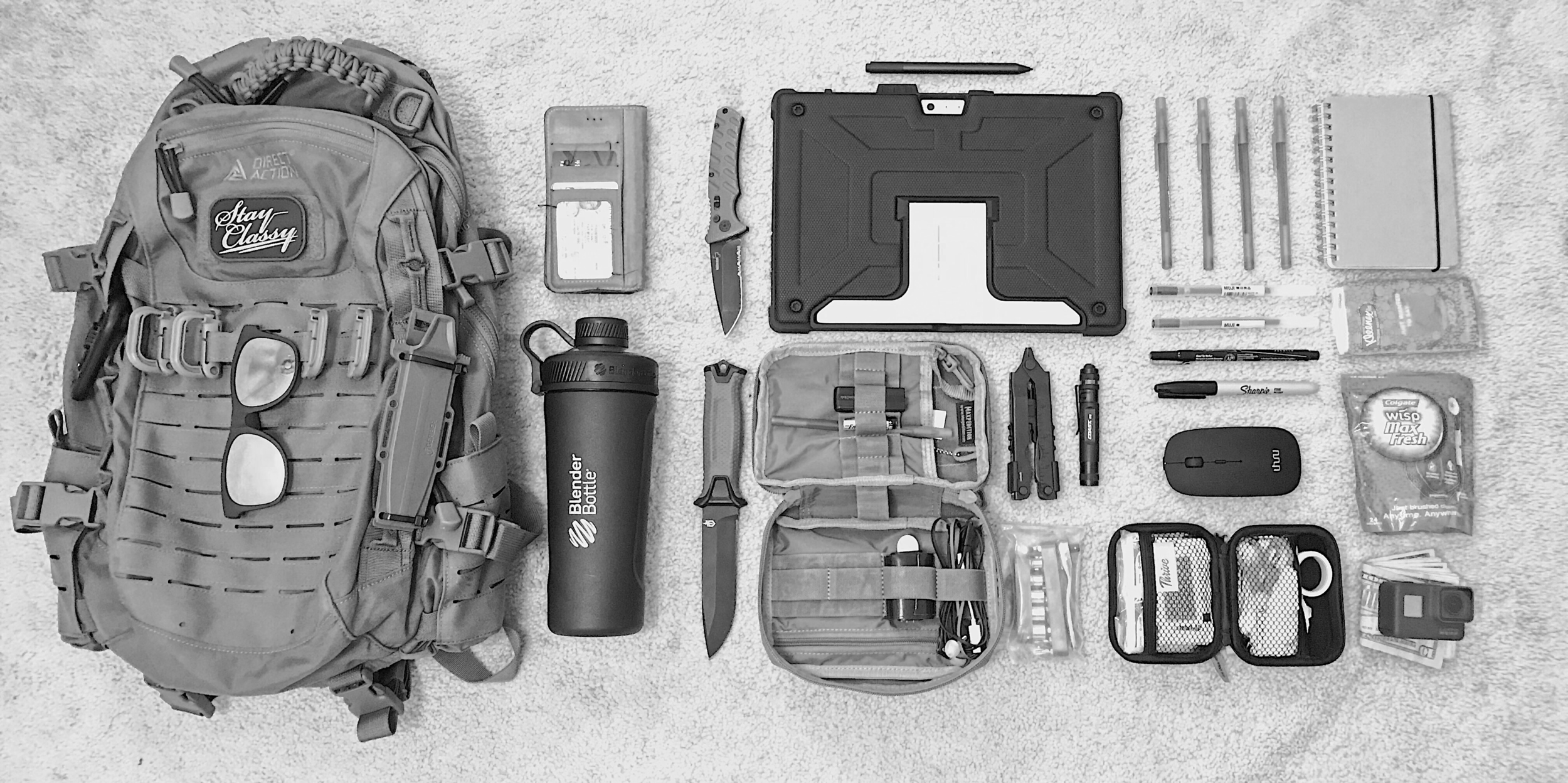 Example of an individuals EDC dump, photographed during initial research interviews
