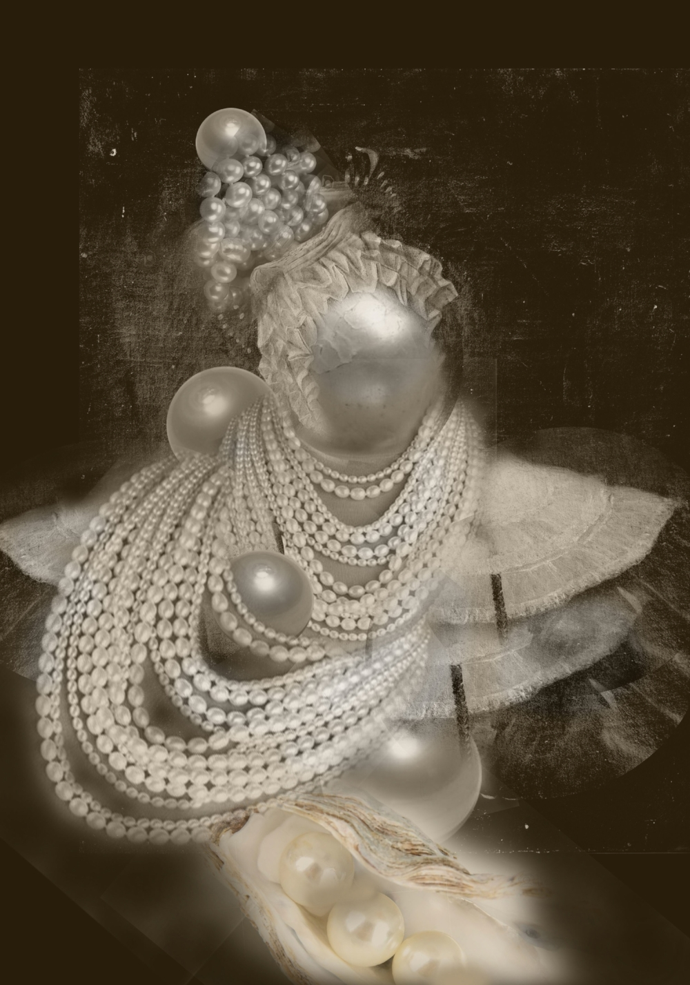 Duchess Pearl , Digital Collage, 2017