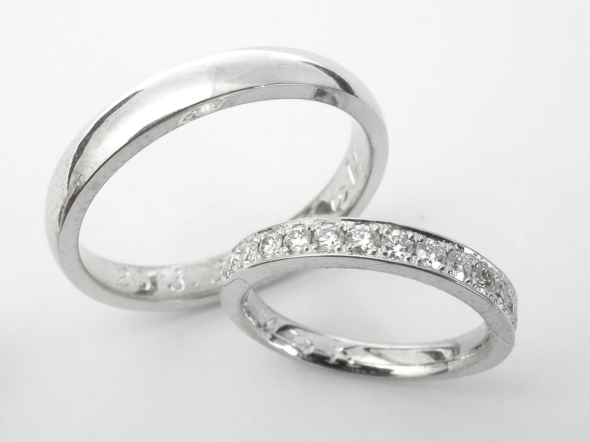 結婚指輪もご用意しました