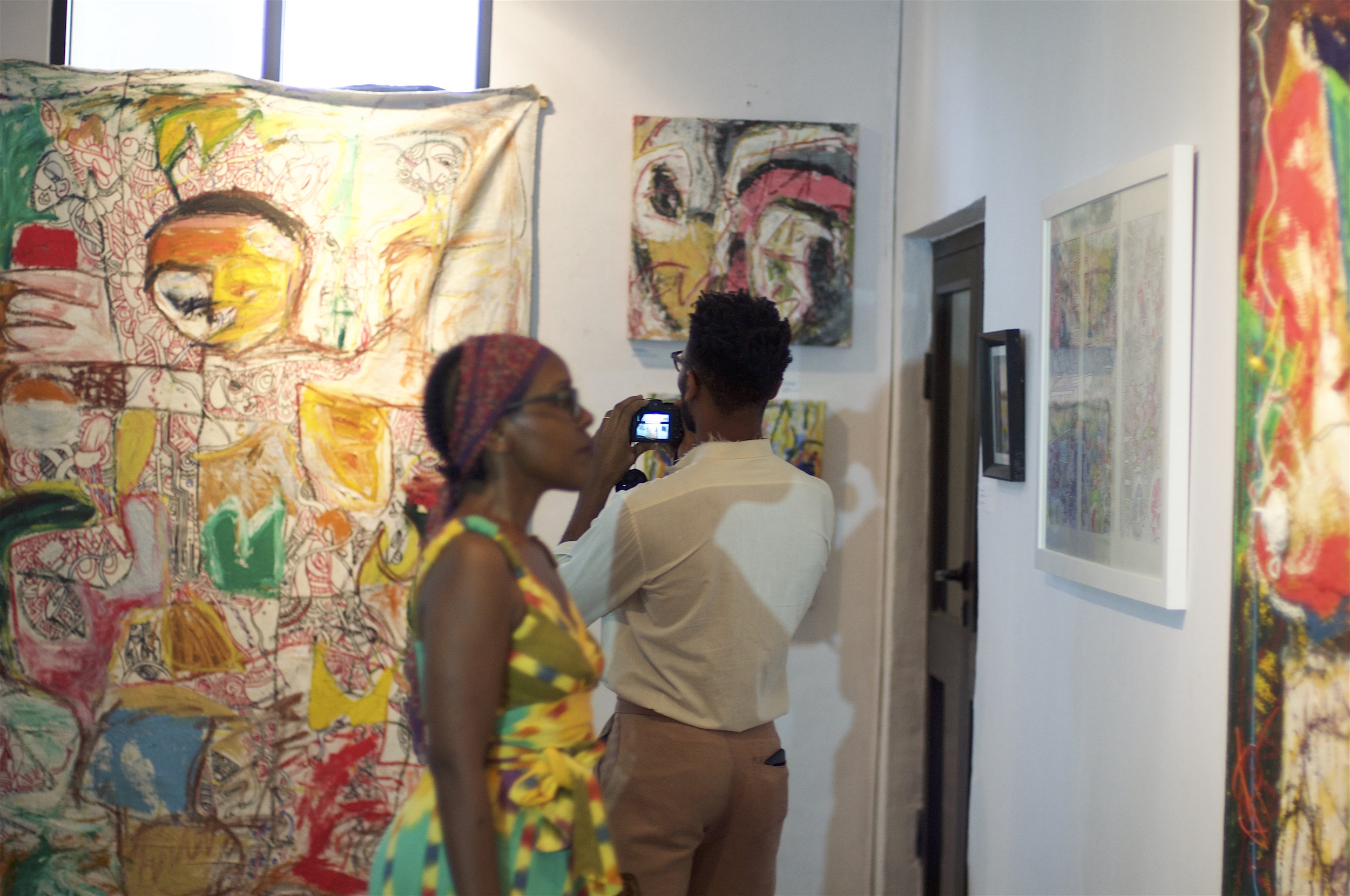 David Akinola, Chima Enwezor and Blessing Ibie ( Artistic Intervention in the Face of Commodification ) exhibition opening November 2016