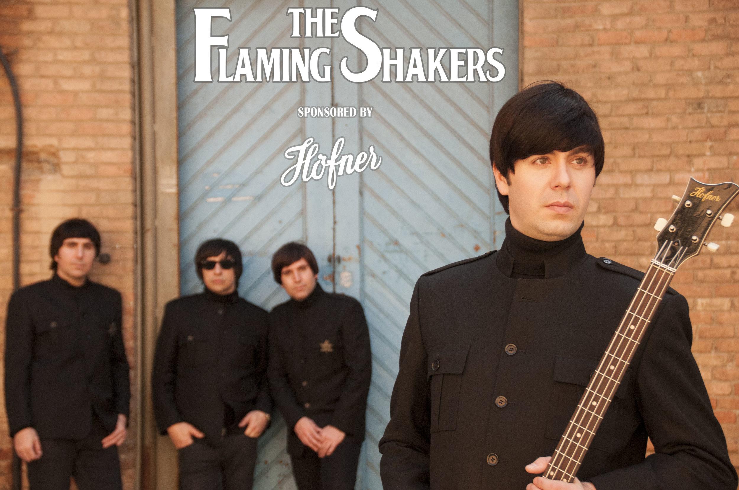 The Flaming Shakers entran a formar parte de la familía de artistas Höfner.    Es todo un honor recibir el Sponsor de la prestigiosa marca alemana. Nathan Baughman muestra con orgullo su modelo 500/1modelo violín, idéntico al que usaba Paul McCartney en 1964.    +Info en la Web Oficial de Höfner:     http://www.hofner.com/news/news/view/label/The%20Flaming%20Shakers/