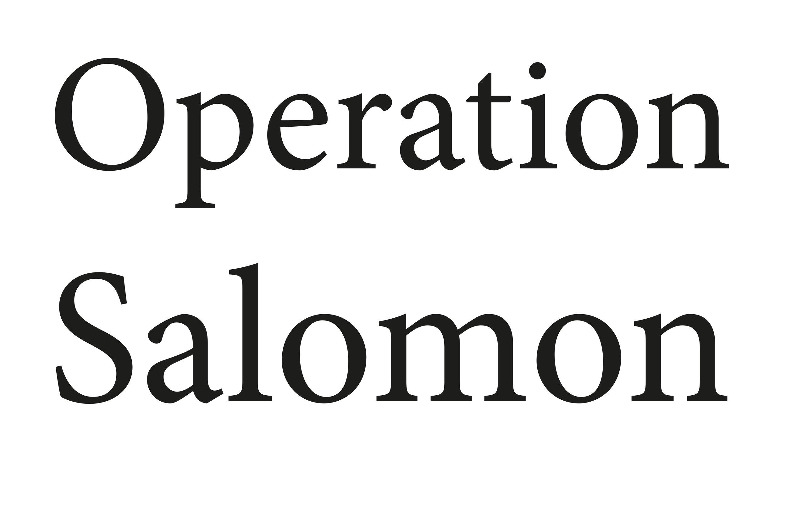 OPERATION SALOMON