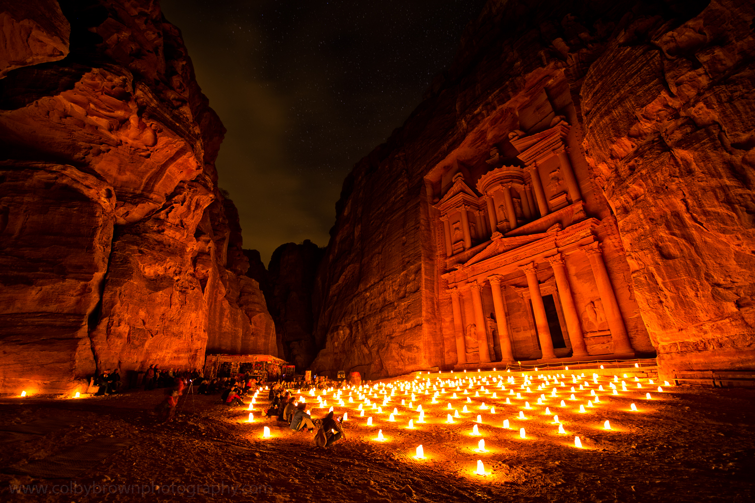 Petra by night, a magical experience
