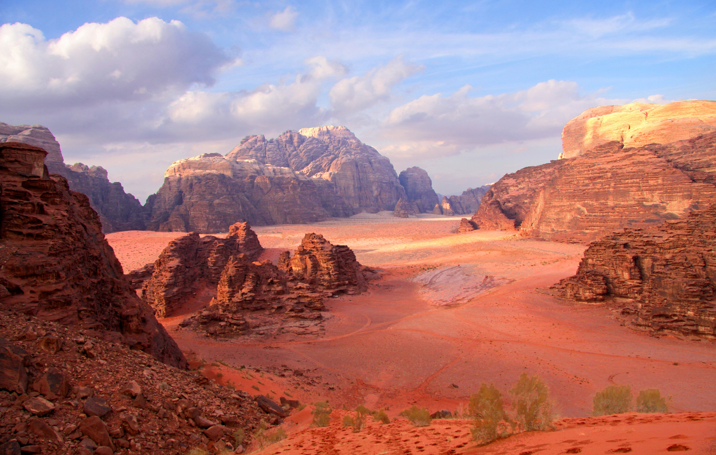 Wadi Rum - Frequently compared to planet Mars because of its red sand.