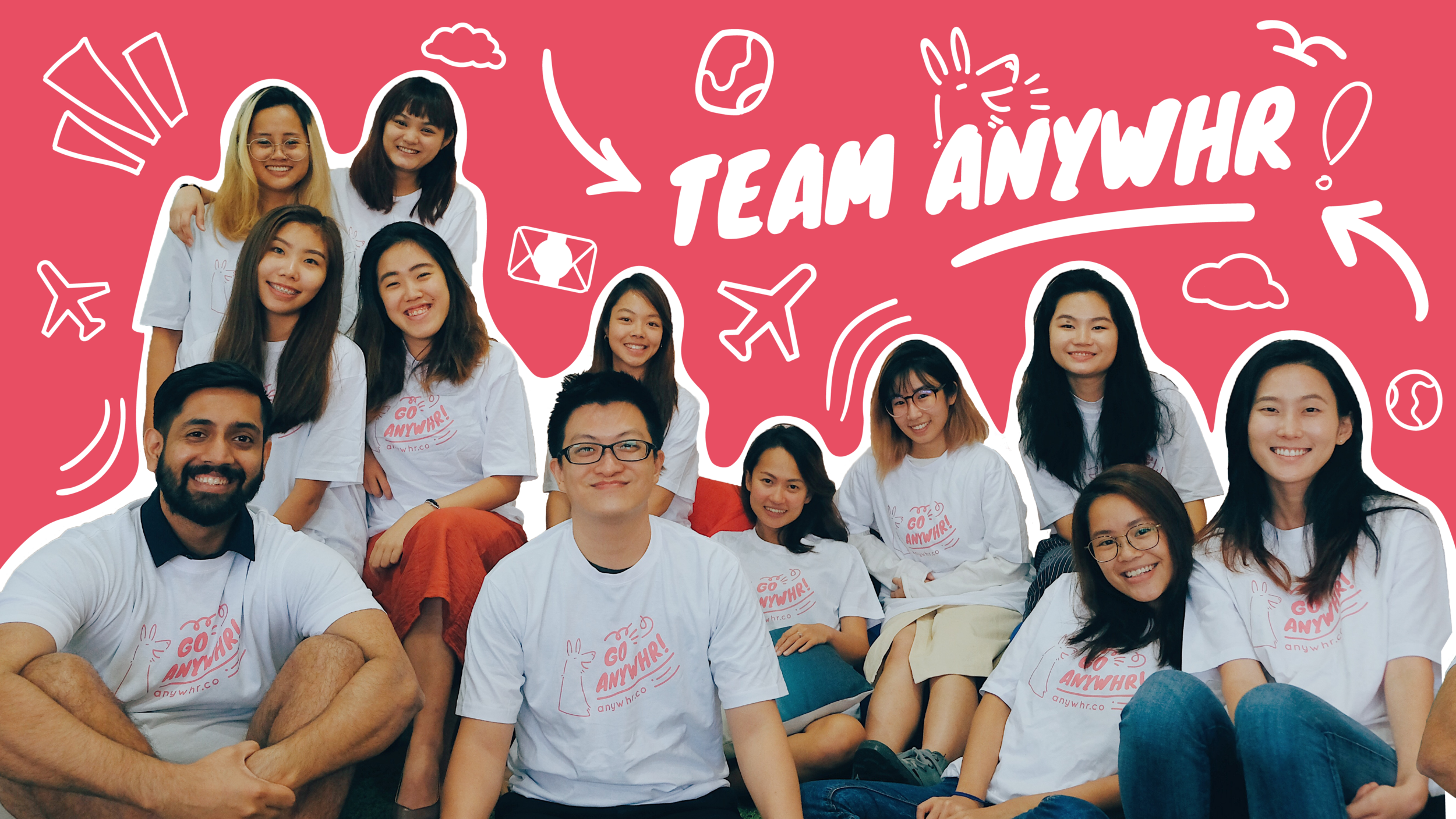 Anywhr team company group photo careers work with us