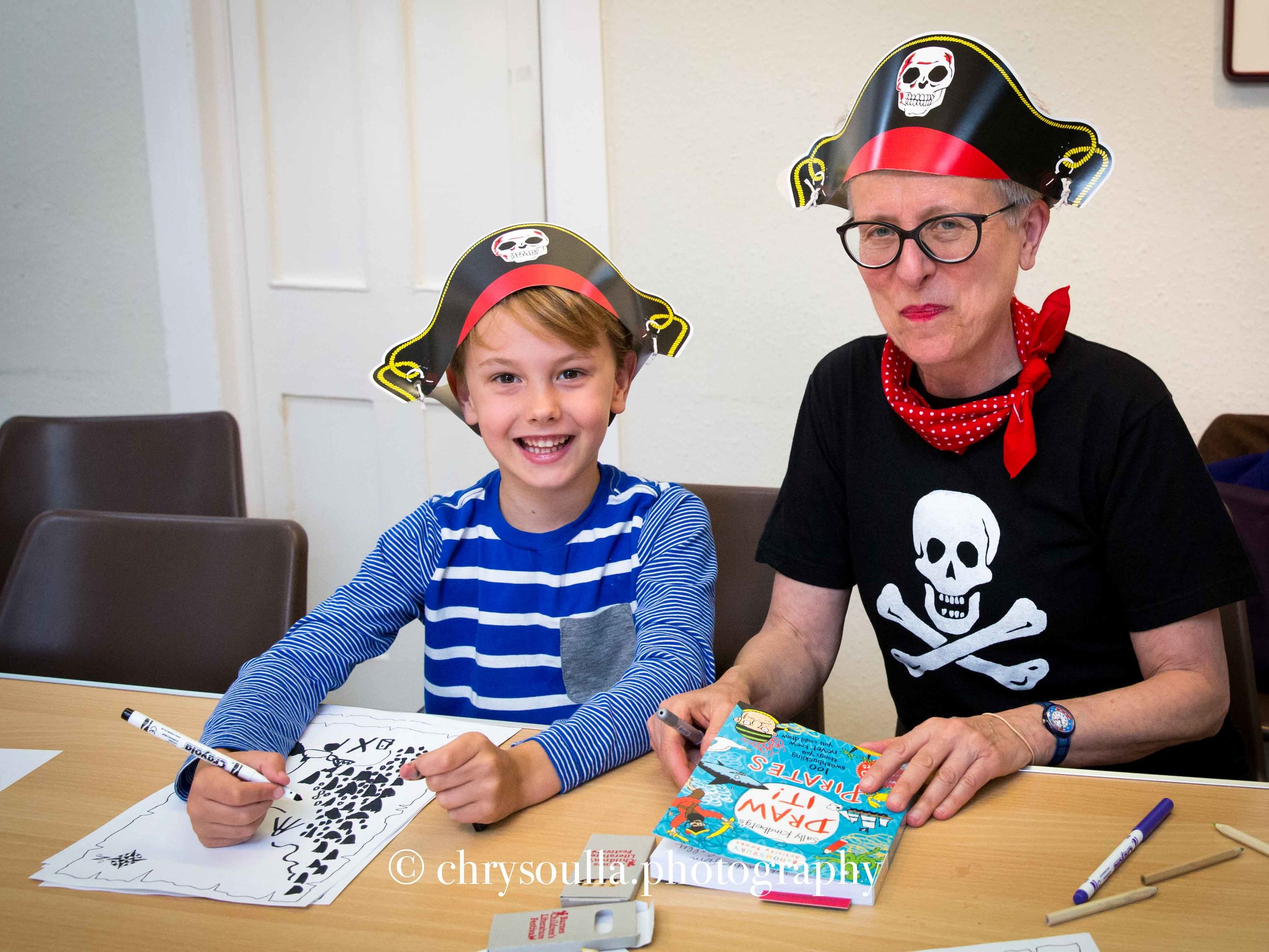 Pirates workshop at Barnes Children's Literature Festival with Sally Kindberg