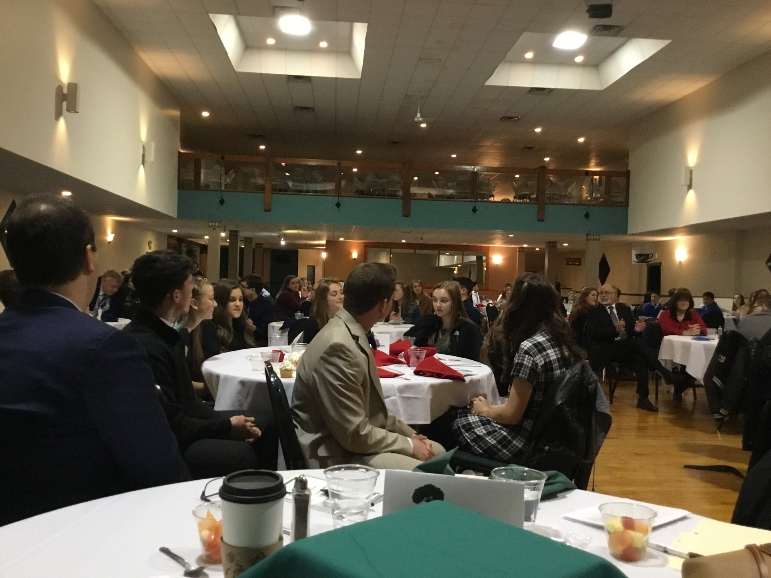 Nearly 200 Students and School Administrator were in attendance - April 16, 2019.    Thank you!