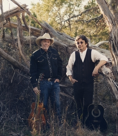 Duo Michael Hearne, left, and Shake Russell sing and play the songs of Texas and the great Southwest.