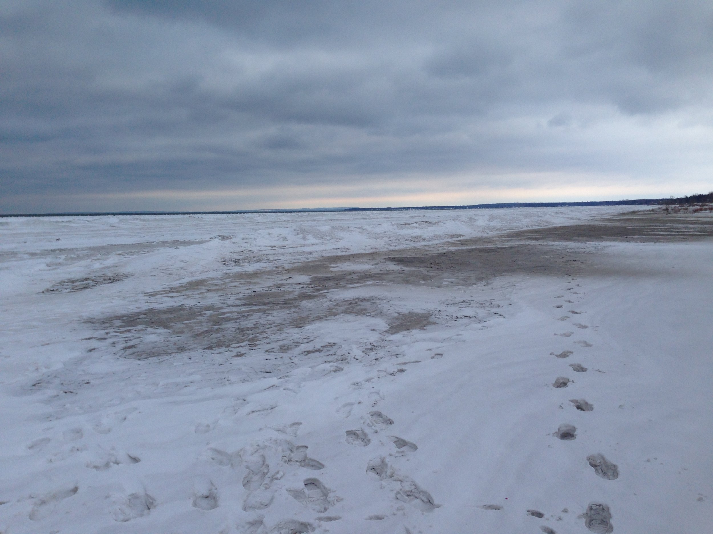 Wasaga Beach Frozen Over