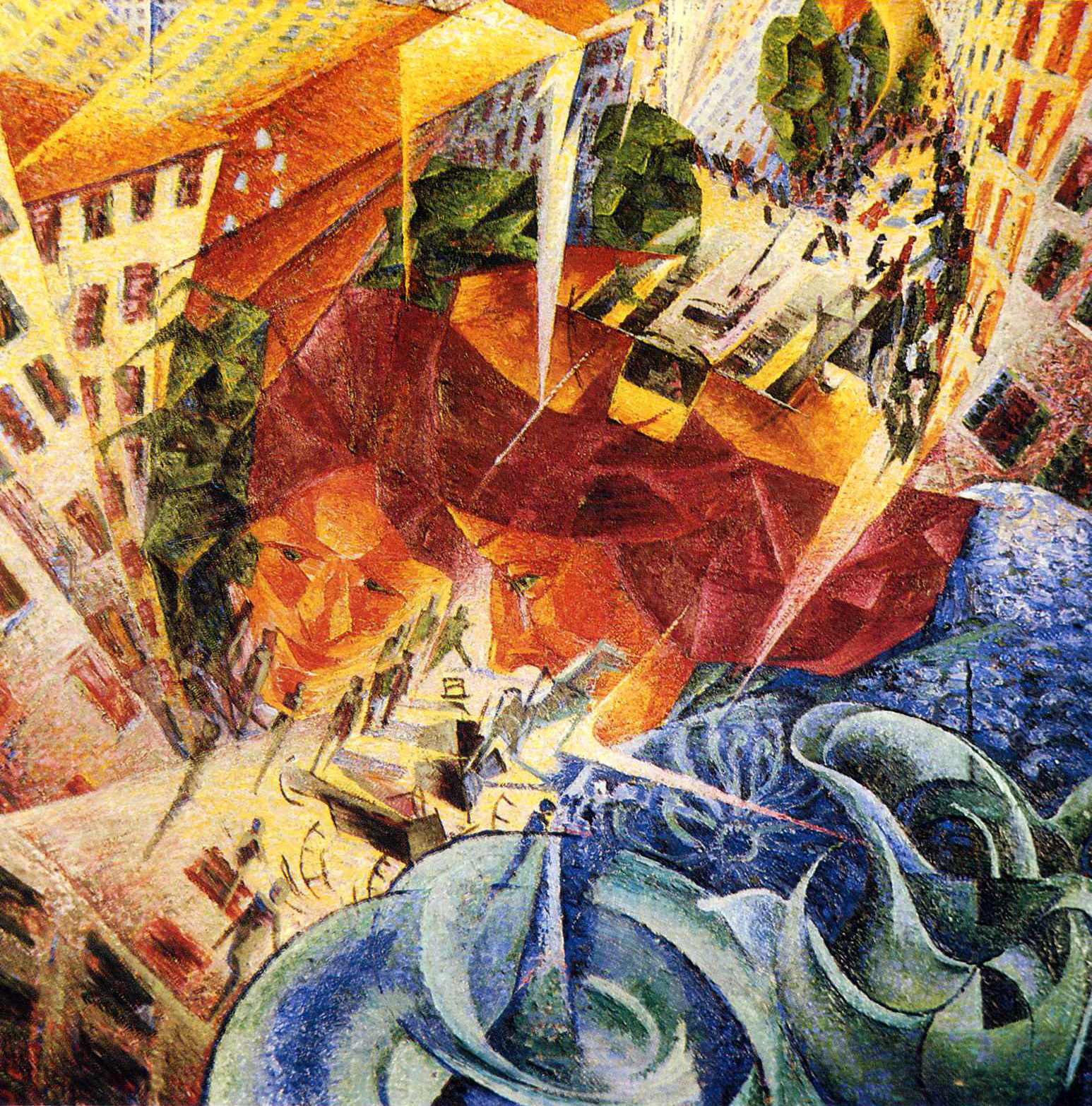 Simultaneous Visions, Umberto Boccioni (1912)