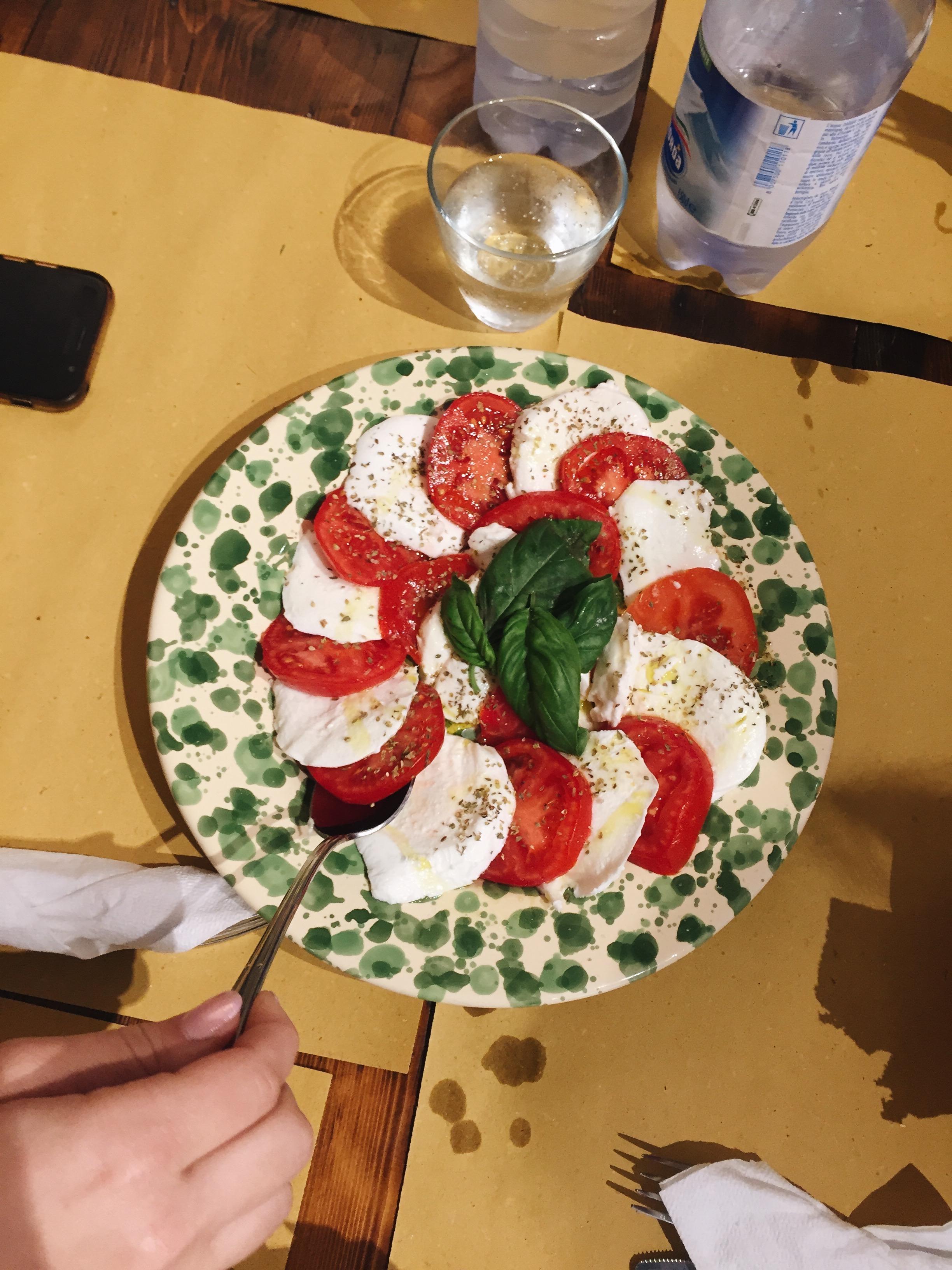 caprese salad at the Fortezza del Girifalco