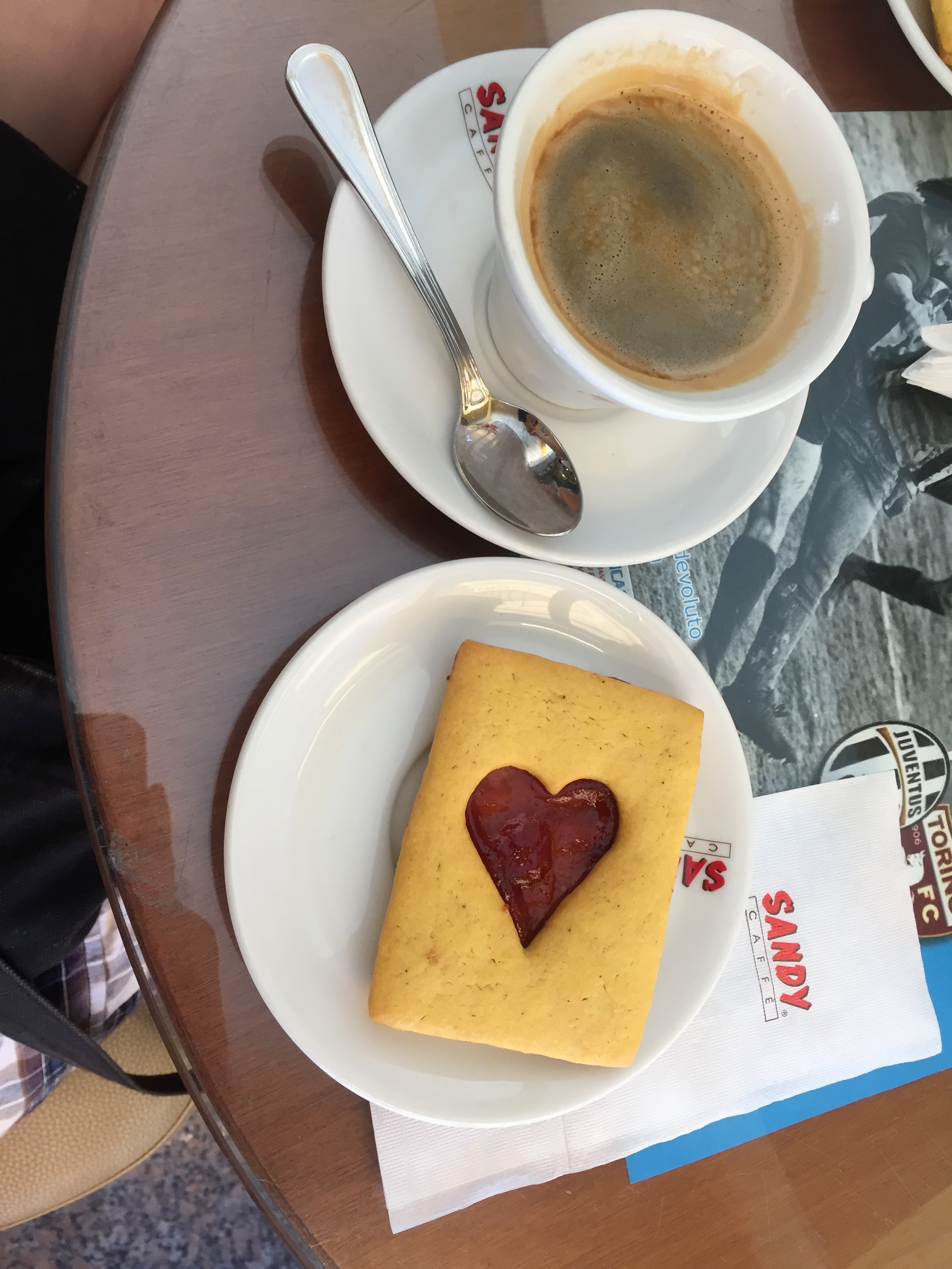 cookie and coffee at Cafe Vittoria