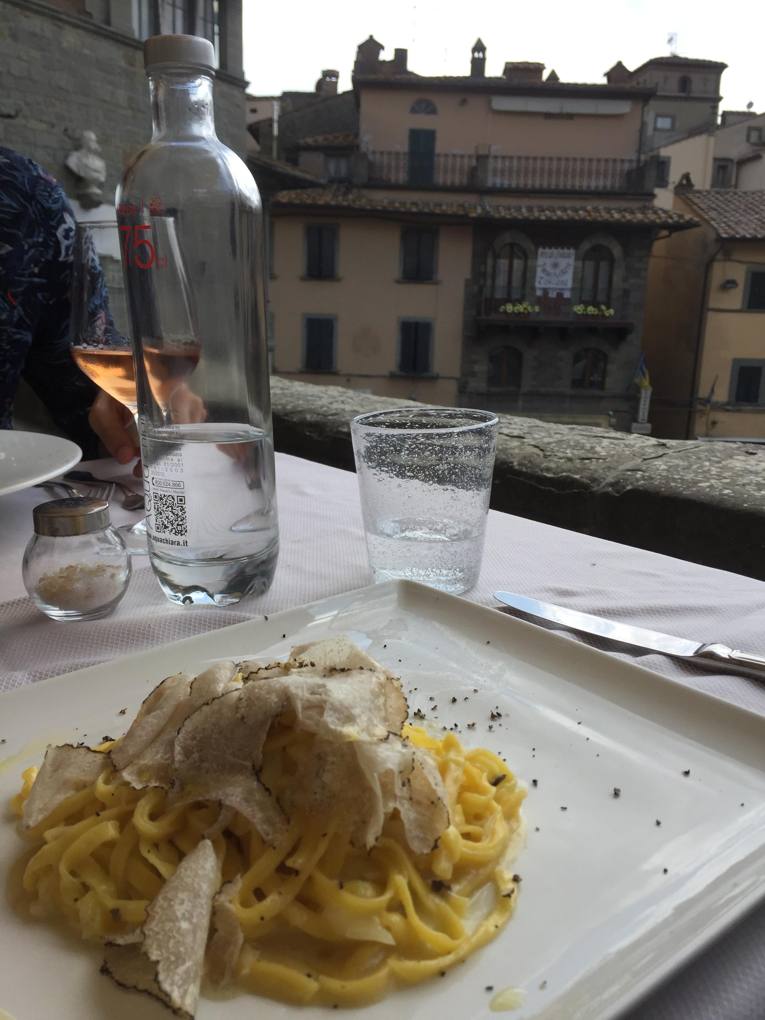 truffle and cabbage pasta at La Loggetta