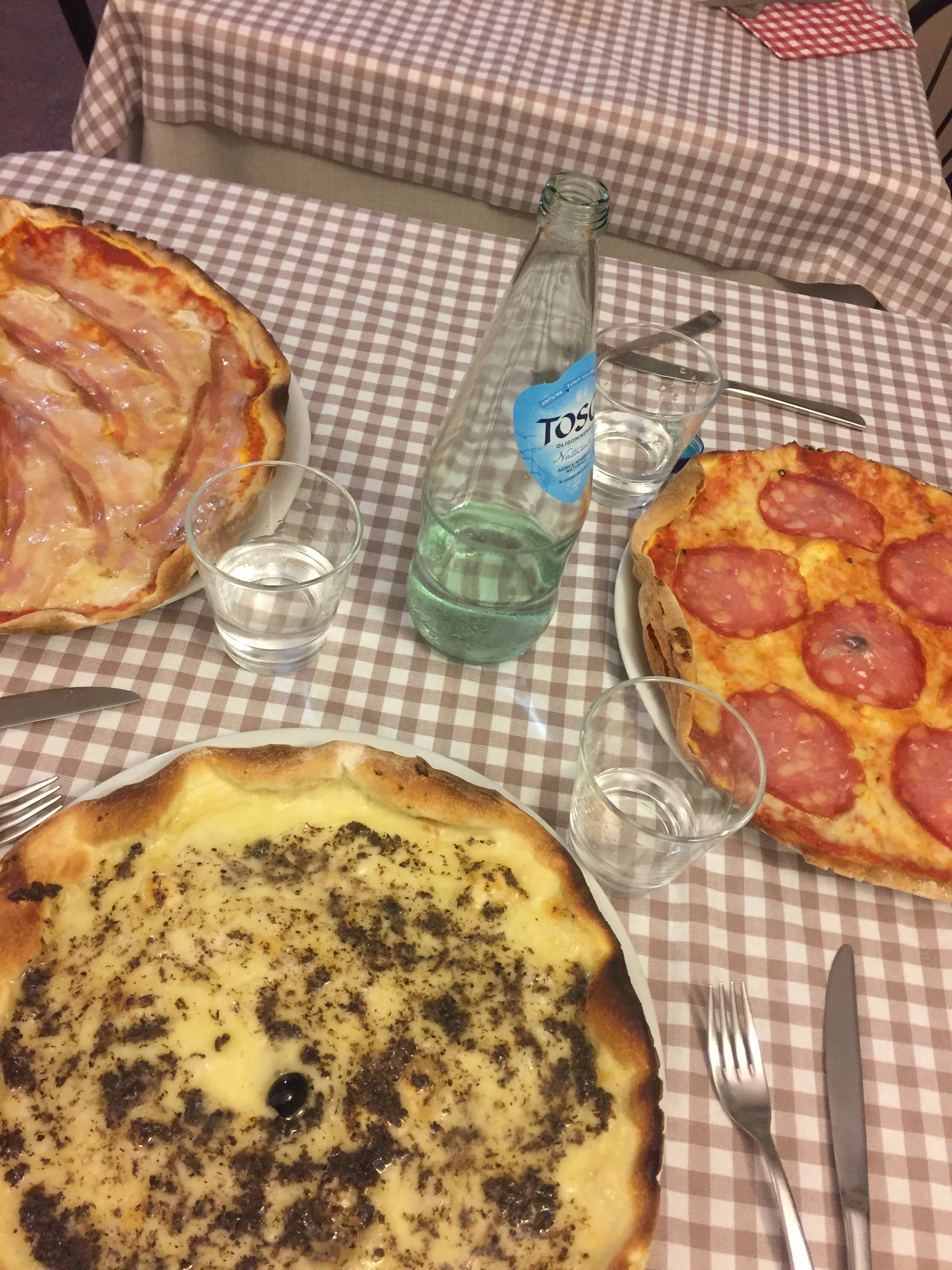 last pizza at Croce del Travaglio