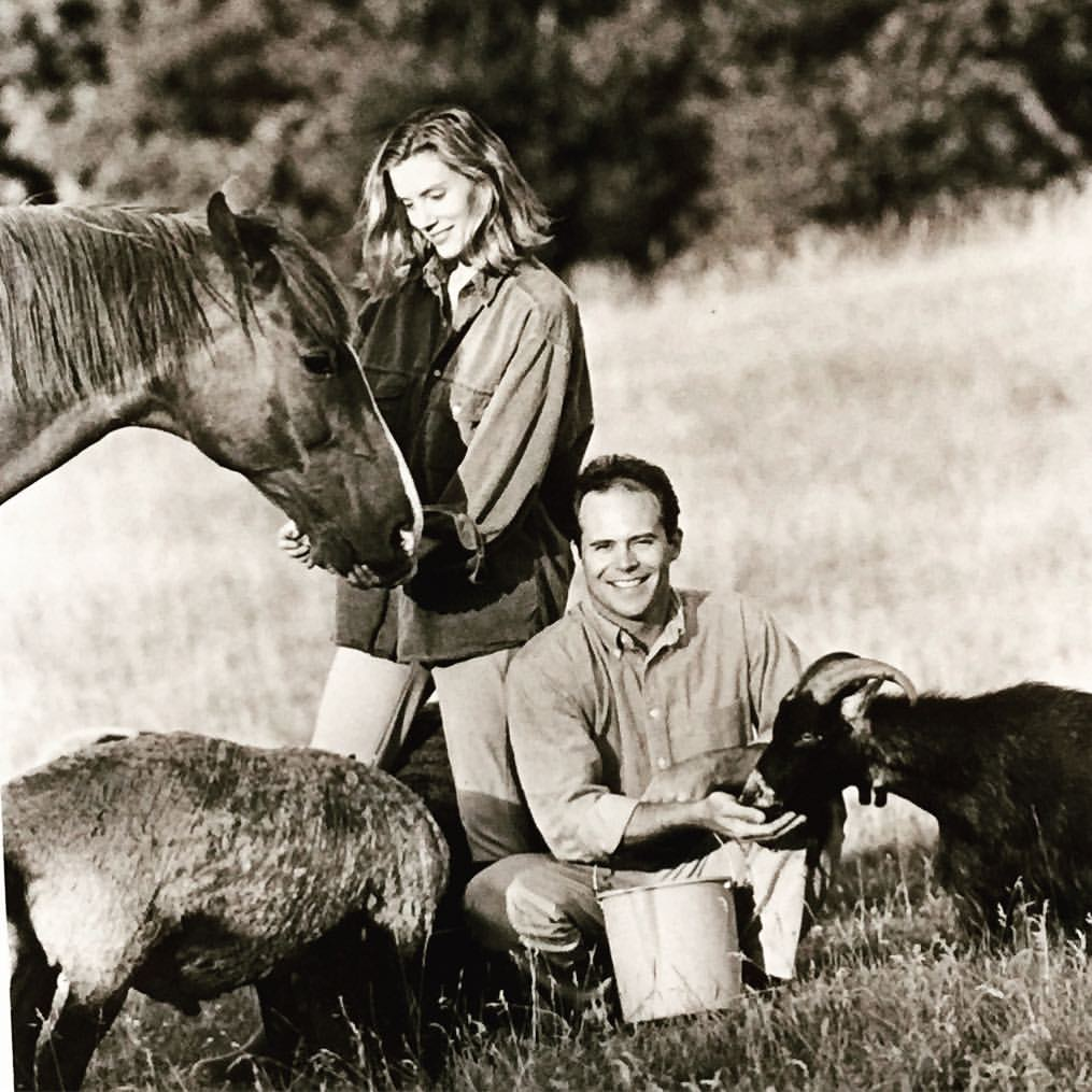 Tracy and her husband, John, in Wisconsin in the '90s.