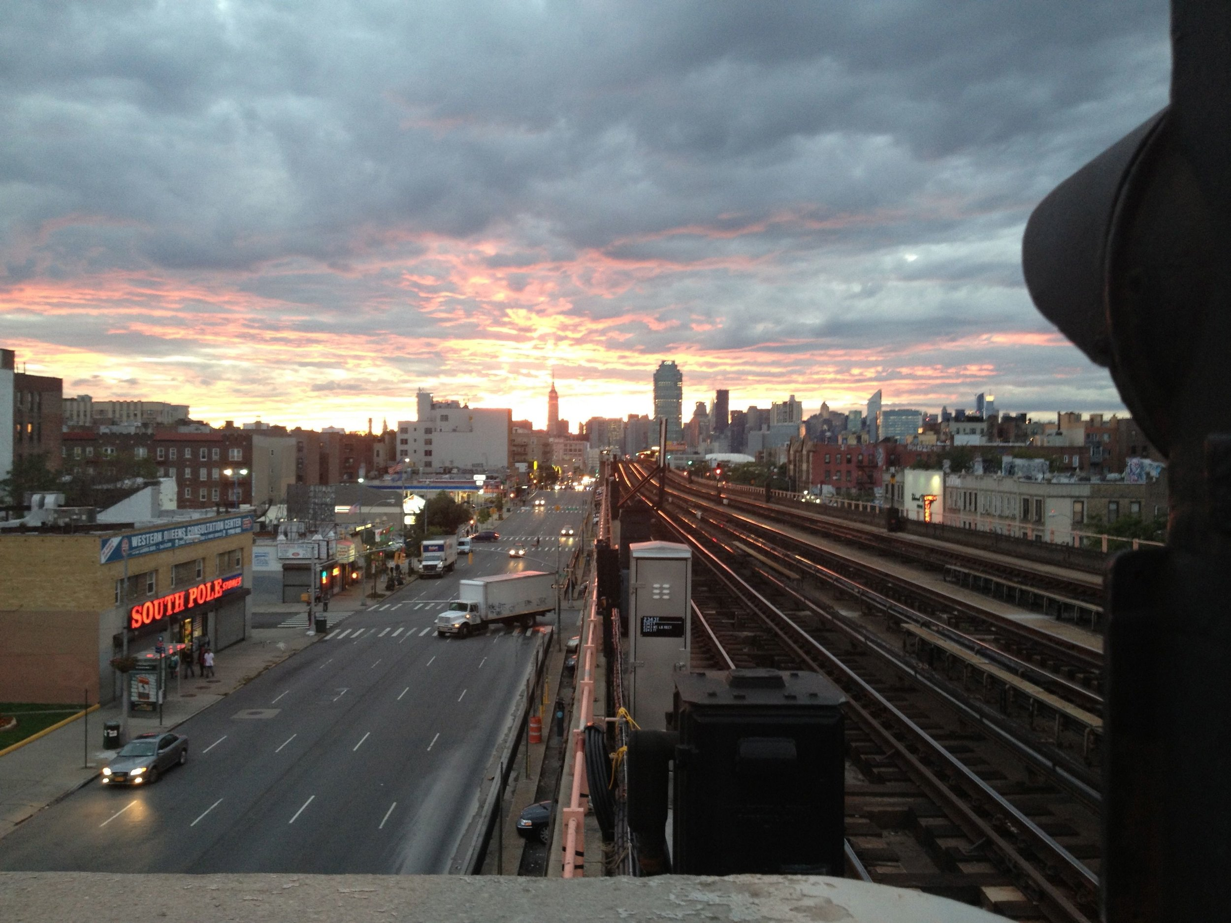 Sunset over Sunnyside, Queens