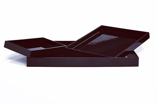 Let's decorate with this set rectangle trays #black #classy #bamboo #multiuse