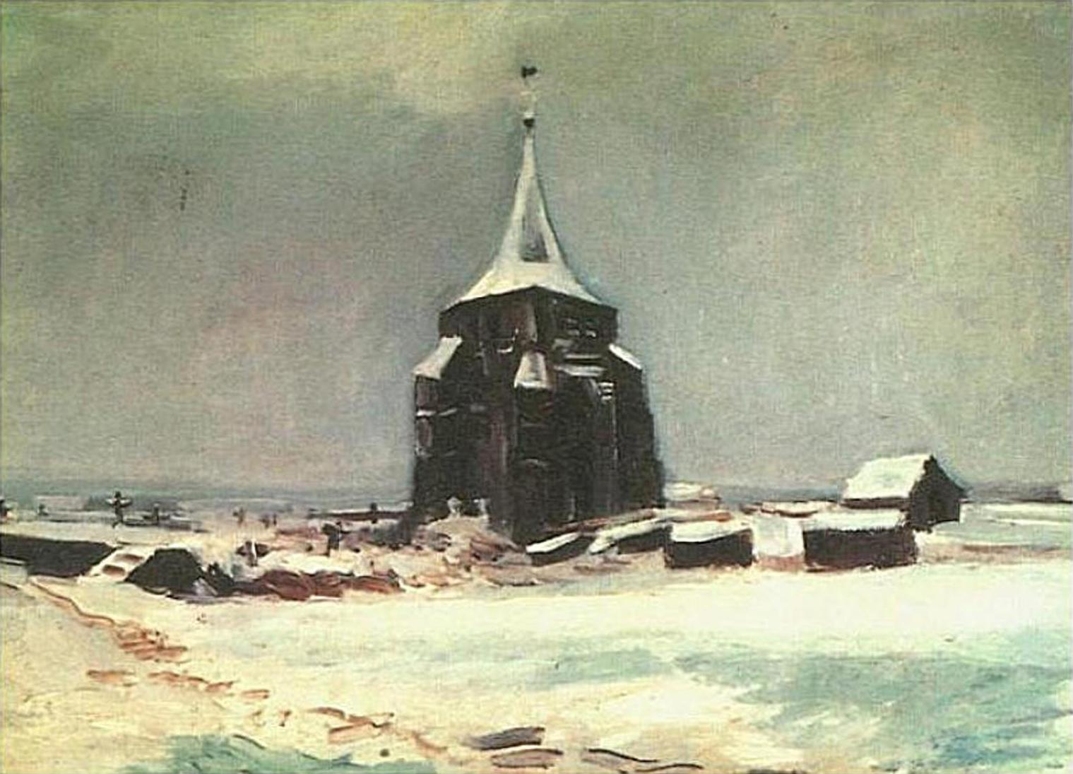 The Old Cemetery Tower at Nuenen in the Snow_F_87-JH_600.jpg