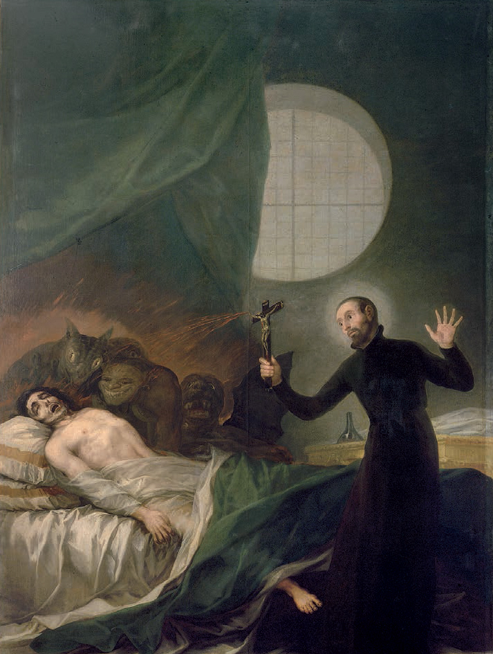 Father General, Saint Francis Borgia, SJ performing an exorcism, c. 1788 by Francisco Goya