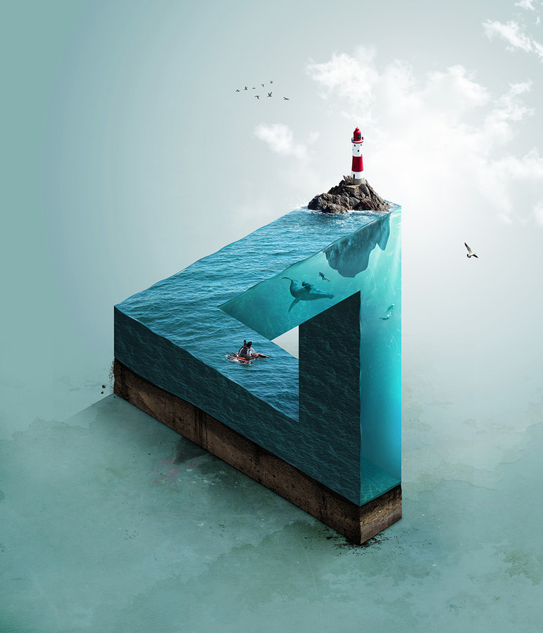 Babel-moon-mc-escher-style-surrealism-titled-impossible-sea-by-jack-usephot.jpg