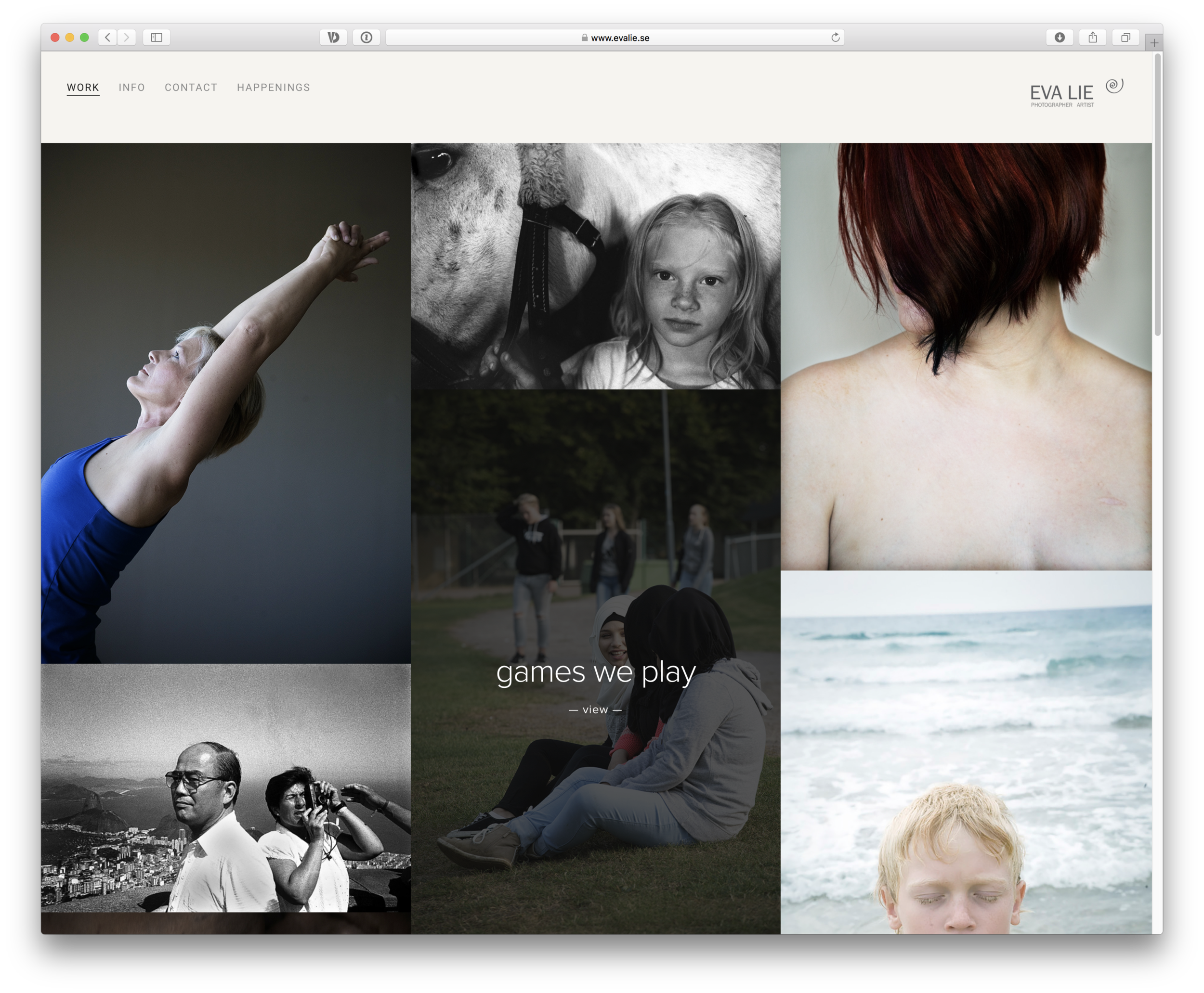 The new website emphasizes Eva Lie as a storyteller. We loved creating this view into her work