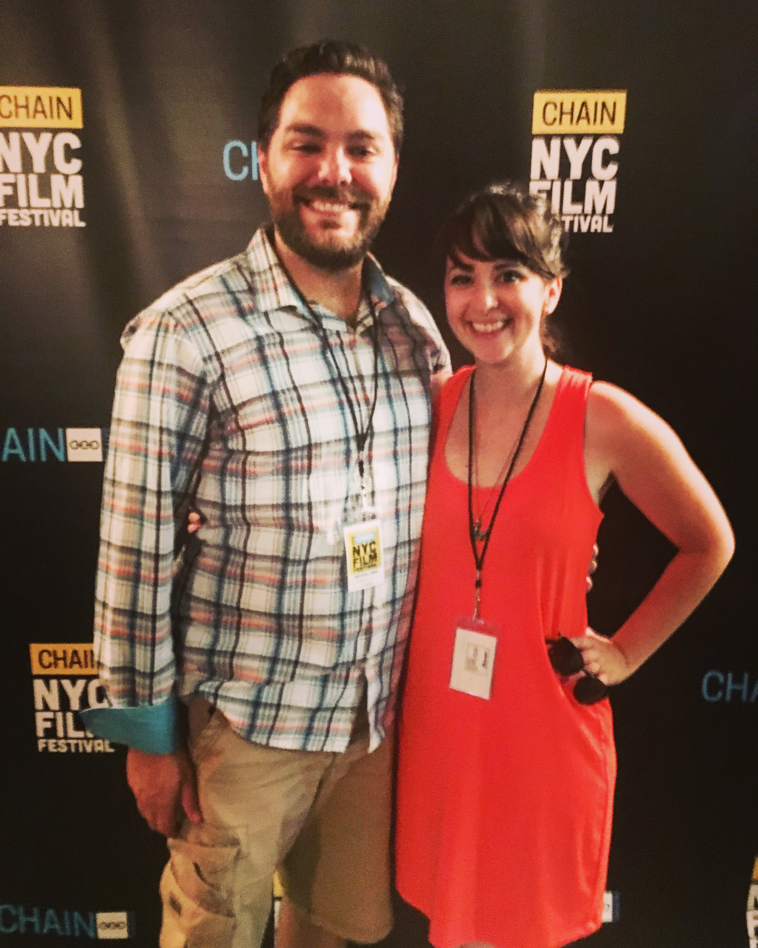 Lincoln and Rachel at the Chain NYC Film Festival 2016