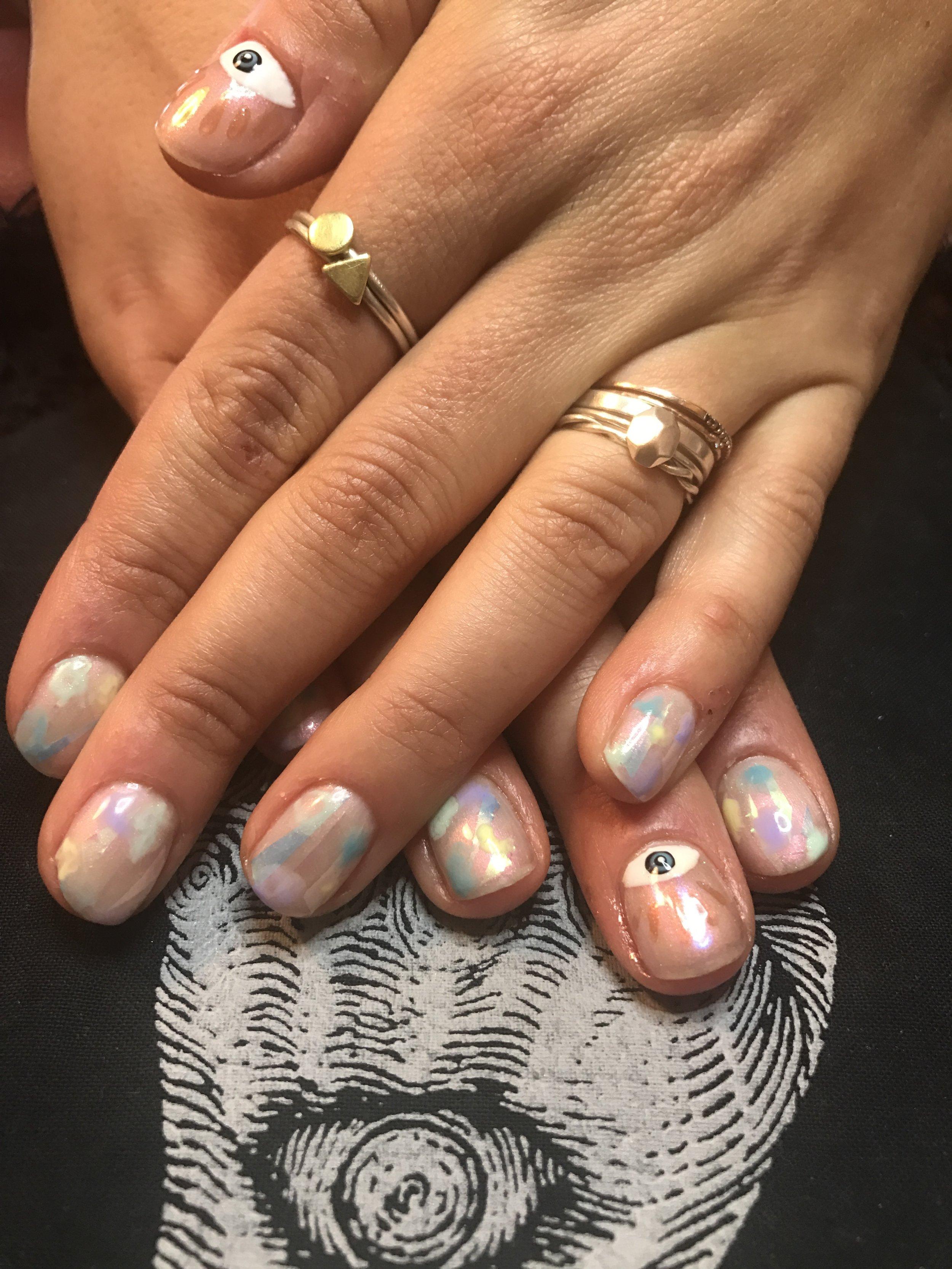Gel Manicure w/ Custom Design
