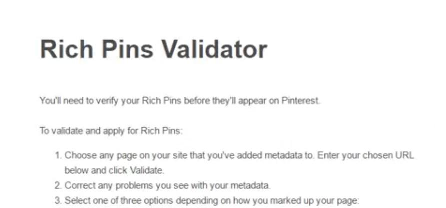 como habilitar pines detallados o rich pins en wordpress