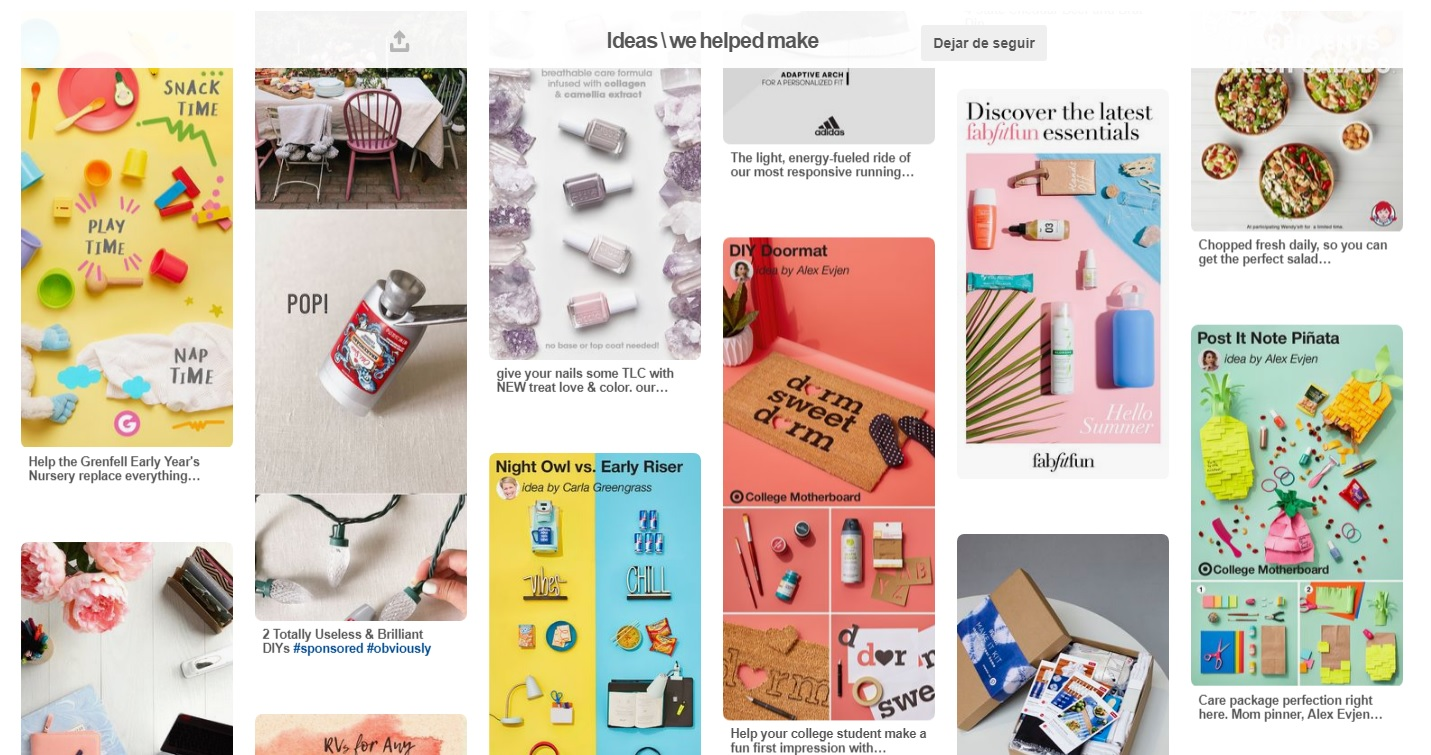 Ideas del equipo creativo de Pinterest  @TheStudio