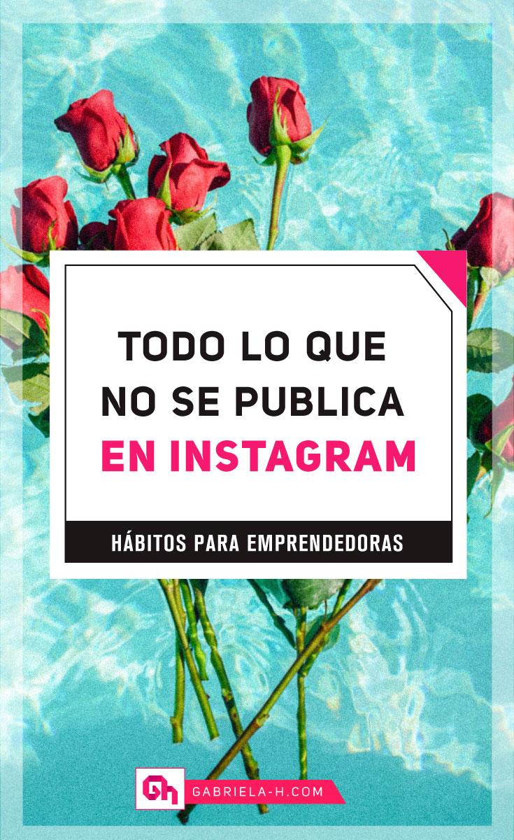 Lo que no se publica en Instagram   #instagram #habitos #productividad #gabrielah