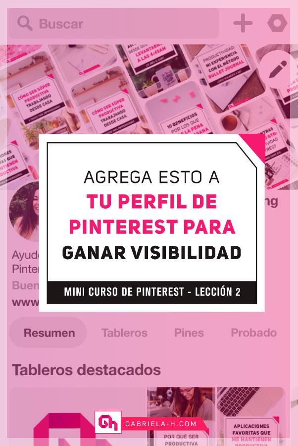 Mini curso de Pinterest dia 2